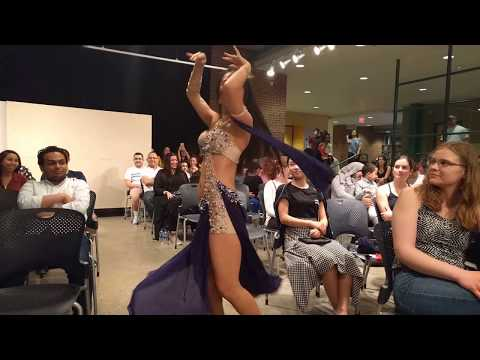 Belly Dance Entrance - Jacinda - Chinese American Belly Dancer - Egyptian Cultural Night 2018