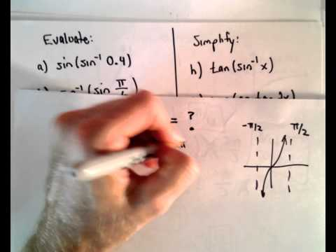 Inverse Trigonometric Functions , Part 2 ( Evaluating Inverse Trig Functions )