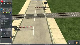 Train Simulator 2014 - Tutorial 9 (Automated Level Crossing)