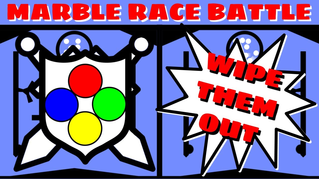 Marble Race Battle : WIPE THEM OUT!!!