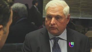 Acevedo le preguntó al Martinelli sobre la problemática con la extensión del Canal de Panamá