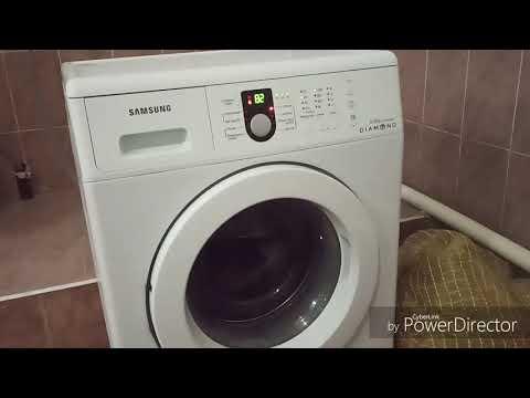Стирка на стиральной машине Samsung цветной хлопок температура 60 градусов