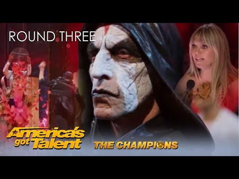 Miki Dark: EVIL Act Has Heidi Klum Do SCREAM Of DEATH While Nearly Killing Her | AGT Champions