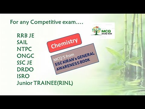 CHEMISTRY || SSC KIRAN GENERAL AWARENESS || VERY IMPORTANT FOR ALL GOVT   EXAMS ||