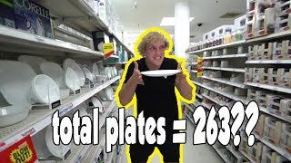 PLATE COUNT Logan Paul and Evan Every Single Plates .. Logan Paul Breaking Plates Compilation.