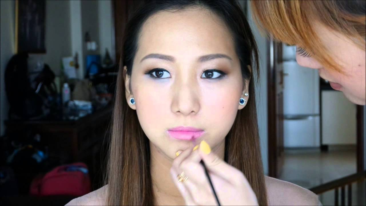 BEFORE/AFTER Korean Party Makeup - YouTube
