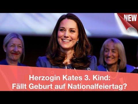 Herzogin Kates 3. Kind: Fällt Geburt auf Nationalfeiertag? | CELEBRITIES und GOSSIP