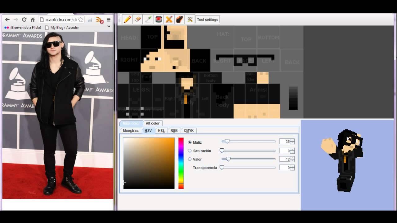 Minecraft Skin Dj Skrillex YouTube - Skin para minecraft o