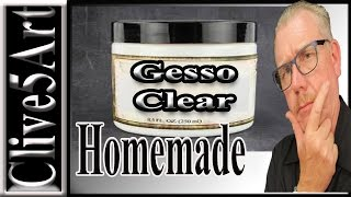 Make your own gesso,clear, Acrylic Painting for beginners