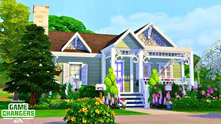 GRANNY'S HOUSE 🧶 || Early Access to The Sims 4 Nifty Knitting! || Speed Build (NO CC)