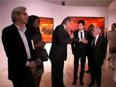 Vittorio sgarbi inaugurazione mostra mimmo centonze a for Mostra palazzo delle esposizioni