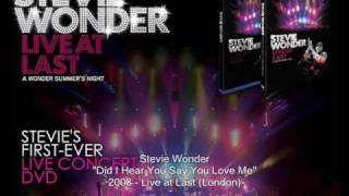 Stevie Wonder - Did I Hear You Say You Love Me (Live At Last)