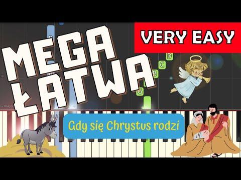 🎹 Gdy Się Chrystus rodzi - Piano Tutorial (MEGA ŁATWA wersja) 🎹