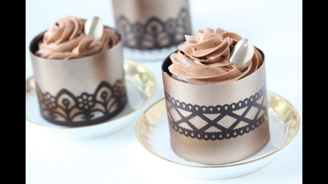Favori How to Make Stenciled Chocolate Dessert Cups - YouTube ZF54