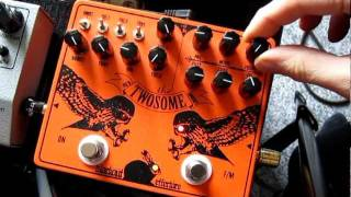 Twosome Fuzz pedal demo (Blackout Effectors)