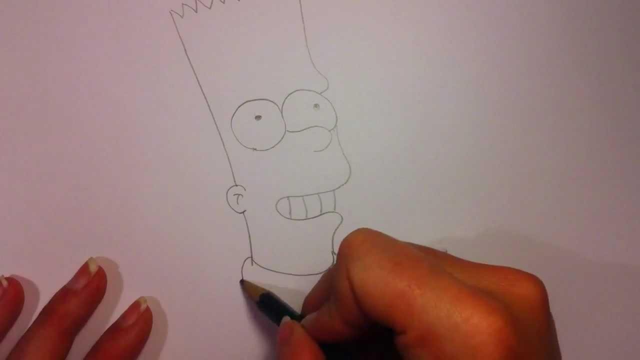 Bart von Die Simpsons zeichnen - Malvorlage Simpsons Figuren - YouTube