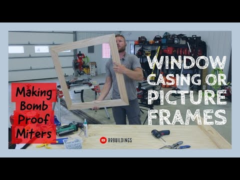 Easiest way to make window casing (aka picture frame) with a Kreg Jig