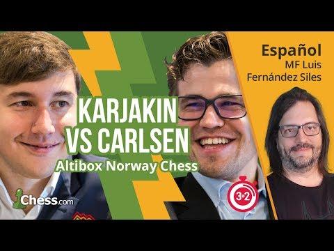 Partida de ajedrez comentada: Sergey Karjakin - Magnus Carlsen (Norway Chess 2017)