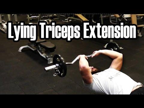 Spor Salonunda Yapılan Hatalar 18 - Barbell Lying Triceps Extension Nasıl Yapılır
