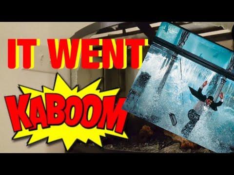 100 Gallon Aquarium Explosion Epic Fail Youtube