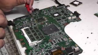 Туралы әңгіме жөндеу Asus N53T мп N53TA жанып кетті процессор кз 1,5