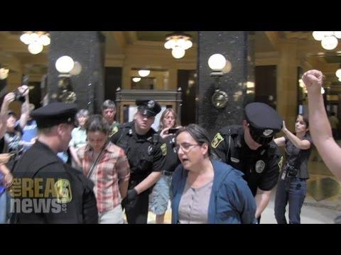 Wisconsin Capitol Protesters Defiant Despite Growing Crackdown