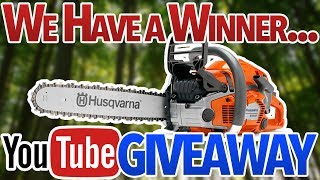 We Have a Winner of the Husqvarna 550xp Chainsaw!