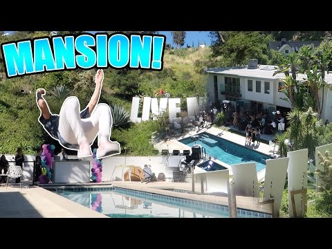 KICKED OUT OF INSANE MANSION POOL PARTY IN BEL AIR!!