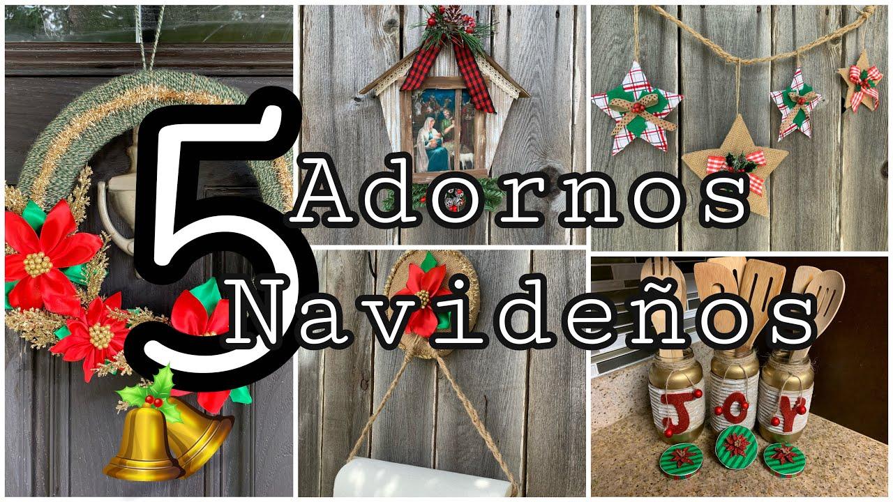 5 Christmas Crafts to Make and Sell/5 IDEAS De Artesanato para o natal/5MANUALIDADES NAVIDEÑAS 2020