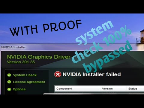 How To Solve Any Nvidia Driver Installation Failed | Bypass System Check ||with Proof😋||