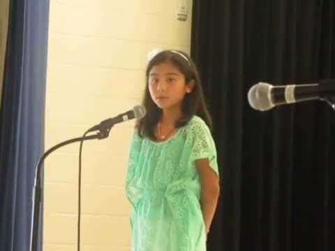 Isabella talent show 2013 at converse elementary school.