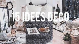15 IDÉES DÉCO / Style Pinterest Scandinave/Berbère