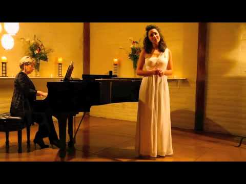 Anya Matanovic sings Aaron Copland's The little horses