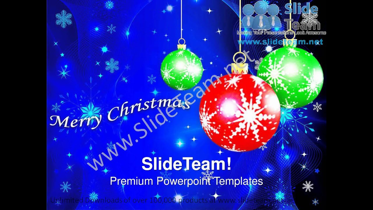 Hanging Filigree On Christmas Background Powerpoint Templates Ppt