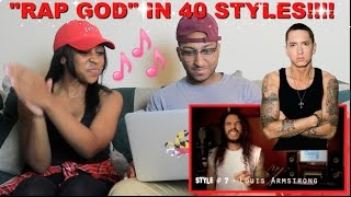 "Couple Reacts : Eminem ""Rap God"" Performed In 40 Styles Reaction!!!"