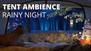 Sleep in Tent wİth Rain Sounds for Sleeping - Camping at Night