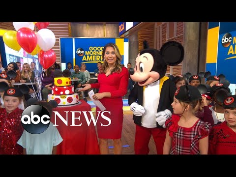 Mickey Mouse celebrates his birthday live on