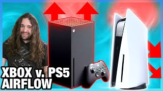 PS5 vs. Xbox Series X Airflow Testing: Cooling Design Efficiency & Flow Paths