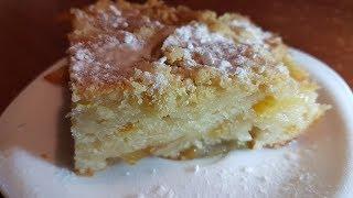 Шарлотка (пирог) с яблоками на кефире Пышная яблочная шарлотка на кефире в духовке