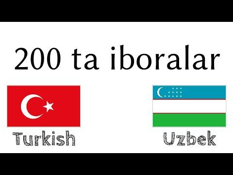 200 ta iboralar - Turkcha - Oʻzbekcha