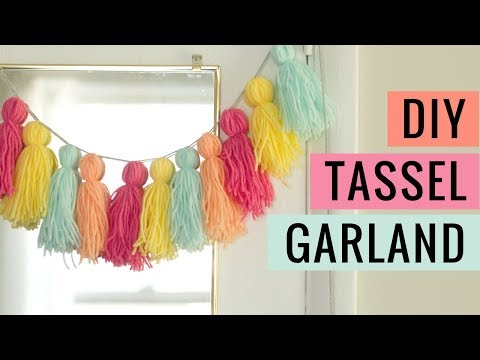 Easy DIY Yarn Tassel Garland Tutorial