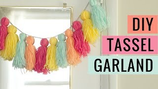 Easy DIY Yarn Tassel Garland Tutorial