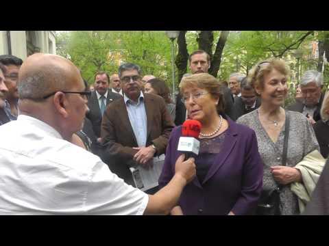 Visita de la Presidenta Michelle Bachelet a Suecia. UGtv