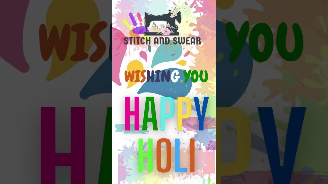 Happy Holi to All YouTube's Family #happyholi #festivemood #shorts #festivalcolor