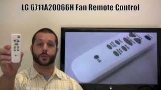 LG 6711A20066H Remote Control - www.ReplacementRemotes.com