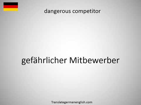 How to say dangerous chemicals in German?