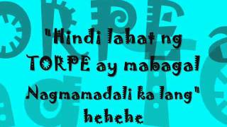 Torpedo by  Eraserheads with lyrics