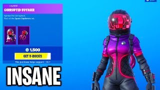 Fortnite ITEM SHOP (INSANE CORRUPTED VOYAGER SKIN!) Fortnite Battle Royale