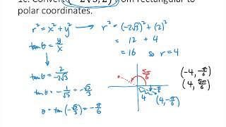 Polar Coordinates Practice Problems (corrected)
