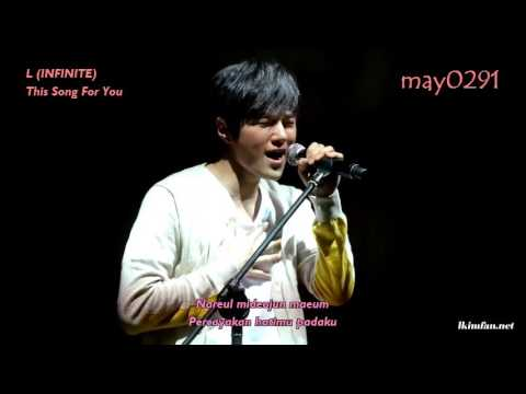 [INDO SUB] Kim Myungsoo (L) INFINITE  - This Song is For You